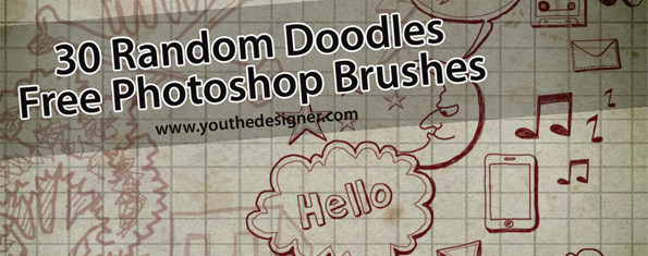 30 Doodles Photoshop Brushes