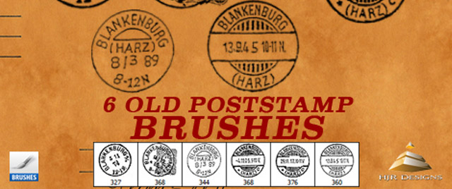 6 OLD POSTSTAMP BRUSHES