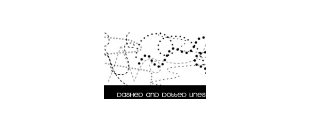 Dashed and dotted lines