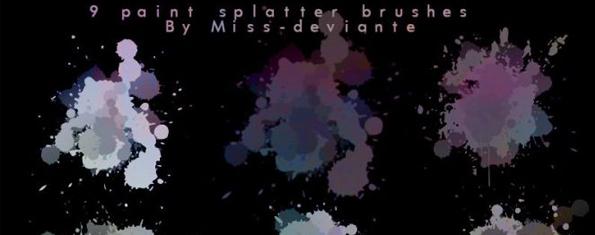 9 Paint Splatter Brushes