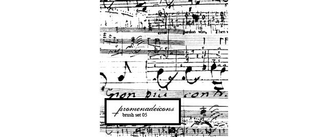 Antique Music Brushes