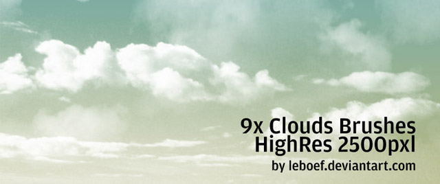 Clouds Brushes HighRes