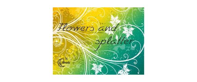 Splatter Swirls&Floral