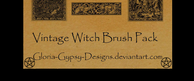 Vintage Witch Brush Pack