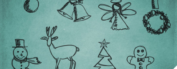 Christmas Scribble Brushes