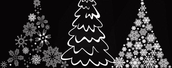 Christmas Tree brushes set2