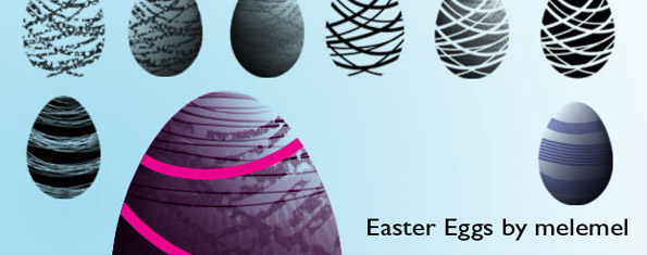 Easter Egg Brushes