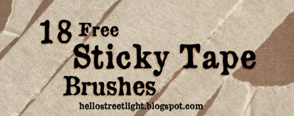 Free Brush Set 21 Sticky Tape