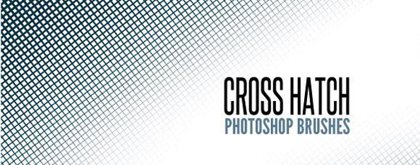 Free Cross Hatch Photoshop Brush Set