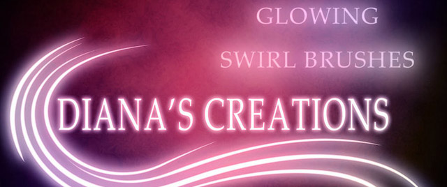 Glowing Swirl Brushes