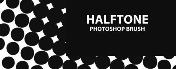 Halftone Photoshop Brush Set