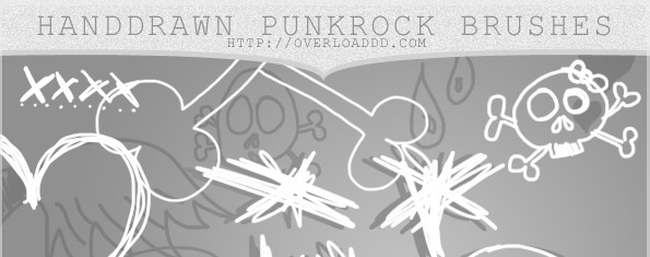 Hand Drawn Punk Rock Brushes