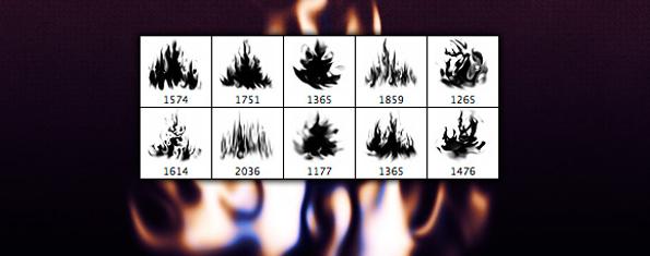 Photoshop Flame Brush Set