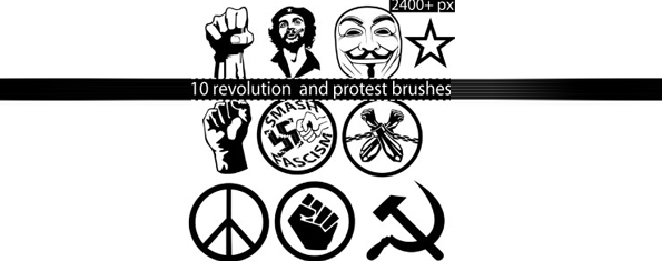 Protest and revolution Photoshop brushes
