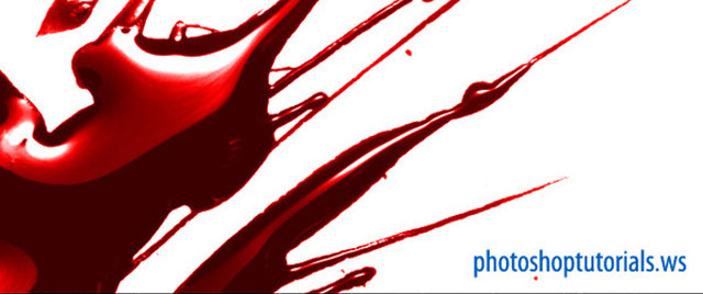 Glossy Blood Splatter