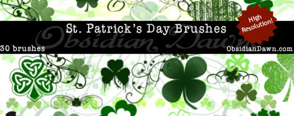 St. Patrick's Day Ps & GIMP Brushes