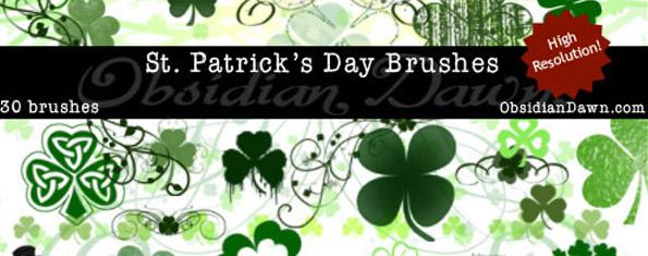 St. Patrick's Day Ps & GIMP Brushes