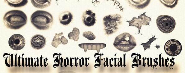 Ultimate Horror Facial Brushes