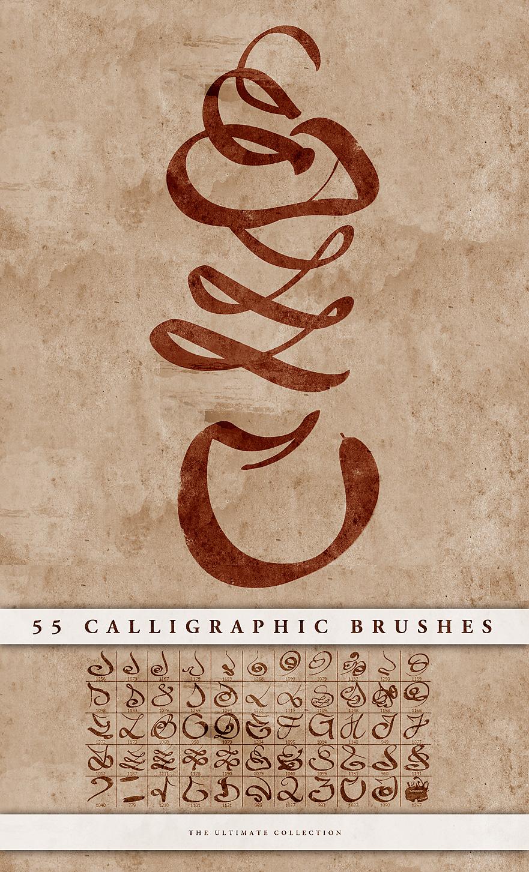 Brush Photoshop Dessin Calligraphic Brushes Par Doodle Lee Doo