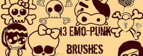 13 Emo Punk Brushes