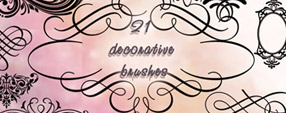 21 decorative brushes