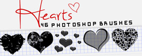 46 Hearts Brushes