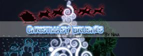 Christmas brushes
