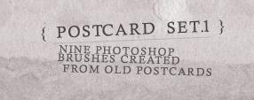 Old Post Card Brush Set I