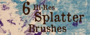 Free Brush Set 17 : Splatter