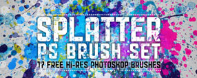 Hi-Res Splatter Brush Set