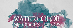 Watercolor Splodges&Drops