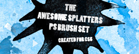 Awesome Splatters PS Brush Set