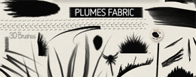 Brushes Plumes fabric