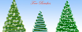 Christmas Tree Free Brushes