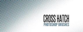 Free Cross Hatch Photoshop Brush Set