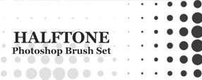 Halftone Photoshop Brush Set