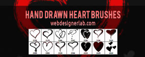 Hand Drawn Heart Brushes