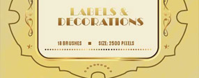 Labels and Ornaments 18 Free Brushes