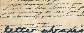 letter phrases