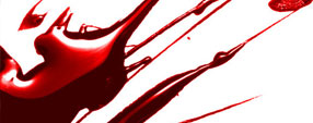 Glossy Blood Splatter