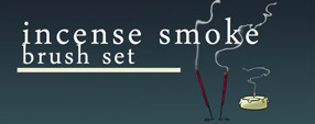 Incense smoke brush set