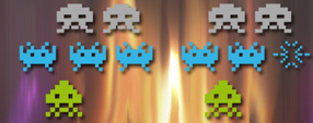 Space Invaders Brushes Set