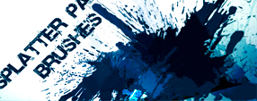 Splatter Paint Photoshop Brush