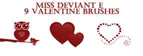 Valentine\'s Day Brushes